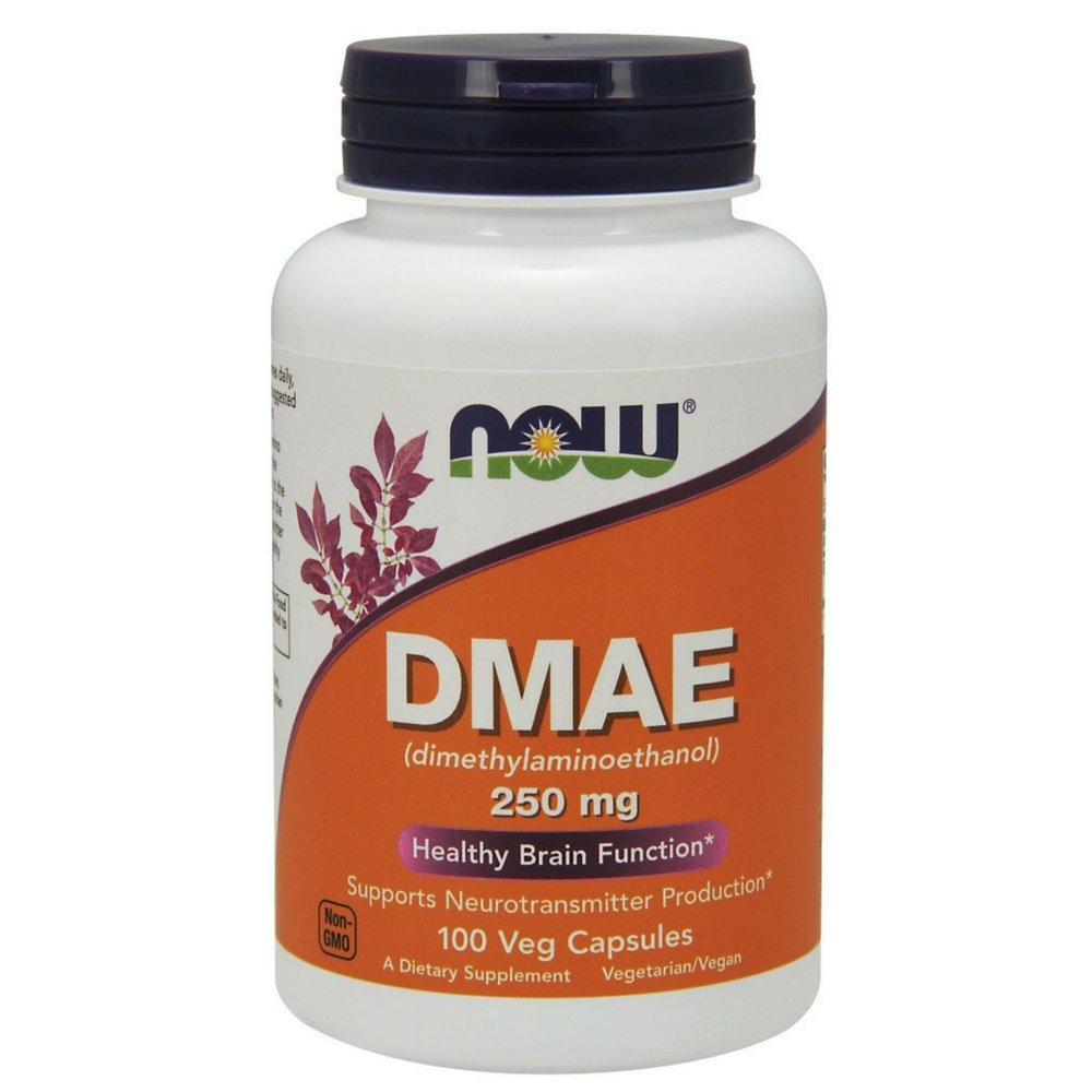 NOW DMAE 250 mg,100 Veg Capsules