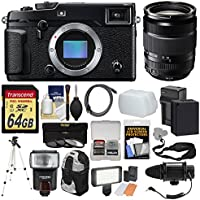 Fujifilm X-Pro2 Wi-Fi Digital Camera Body with 18-135mm Lens + 64GB Card + Backpack + Flash + Video Light + Mic + Battery & Charger Kit