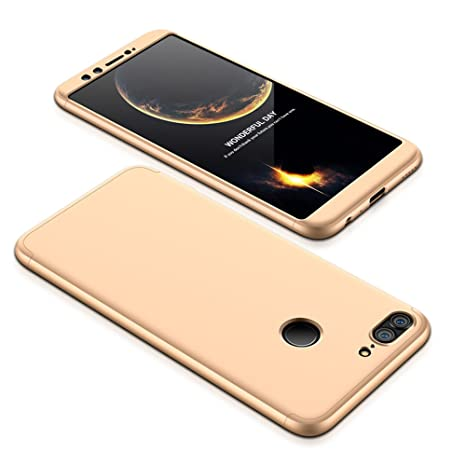 JMGoodstore Funda Compatible Huawei Honor 8 Pro,Carcasa Huawei V9,360 Grados Integral Ambas Caras+Cristal Templado,[ 360°] 3 in 1 Slim Dactilares ...