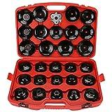 TKOOFN 30Pcs Auto Oil Filter Wrench Socket Cup Type Cap Removal Tools Set