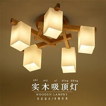 BRIGHTLLT Einfache Holz- LAMPE LED logs Wohnzimmer Decke lampen Licht Holz,  Schlafzimmer Lampen, 620*h 300 mm
