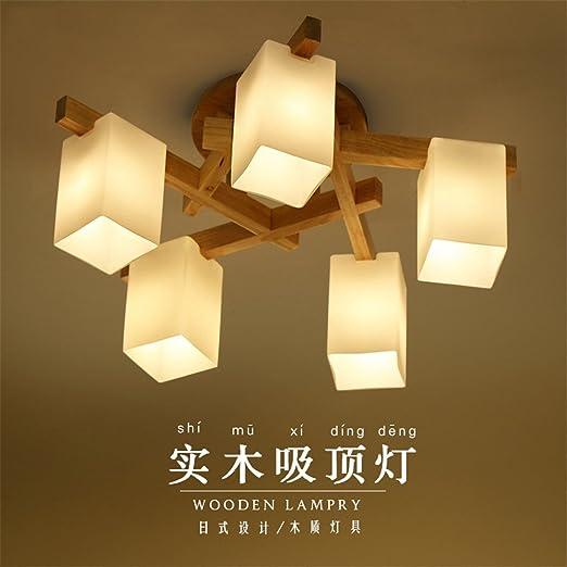 BRIGHTLLT Einfache Holz- LAMPE LED logs Wohnzimmer Decke lampen ...
