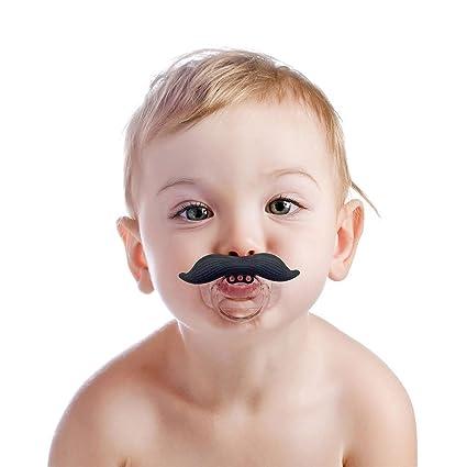 Bebé bigote pacifierâtm y # x153;