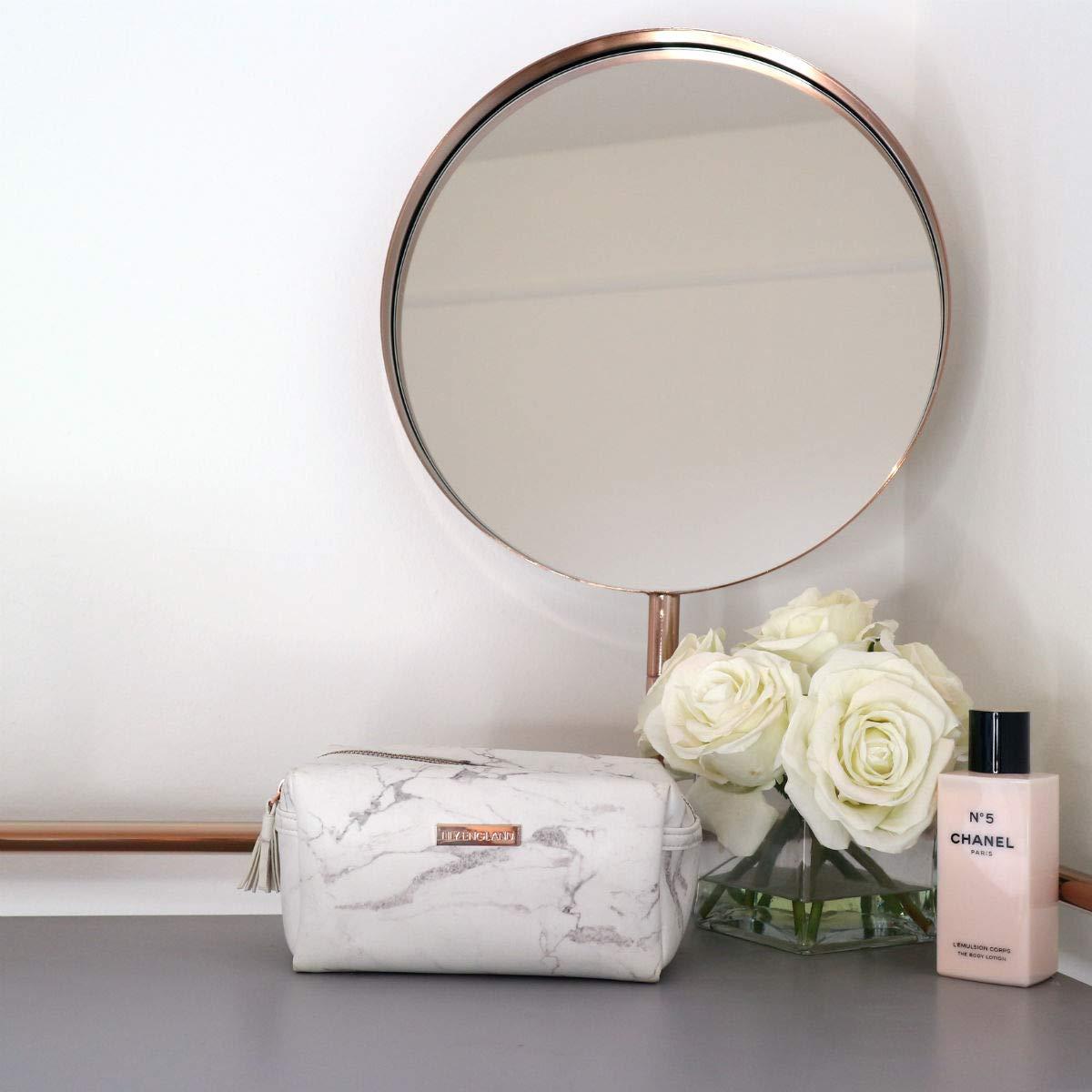 Lily England Bolsa de Maquillaje de Mármol - Bolsa de Cosméticos, Neceser o Estuche Escolar: Amazon.es: Equipaje