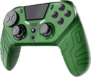 PUNWEOS Wireless Controller for PS4, Gamepad Joystick Remote Controller with Programmable Back Buttons Compatible with PS4/Pro/Slim/PC/Mac,Turbo/Audio Function/Interchangeable Stick Module