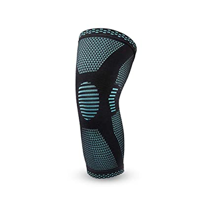 Dizadec Knee Brace Compression Sleeve, Elastic Knee Wraps with Silicone Gel Spring Support, Hinged Kneepads Protector: Clothing