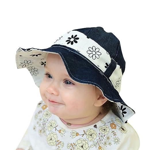 Baby Kids Girls Boys Toddler Fisherman Bucket Hat Pattern Wide Brim Outdoor  Cap Sun Hat by 08ec3a2f678