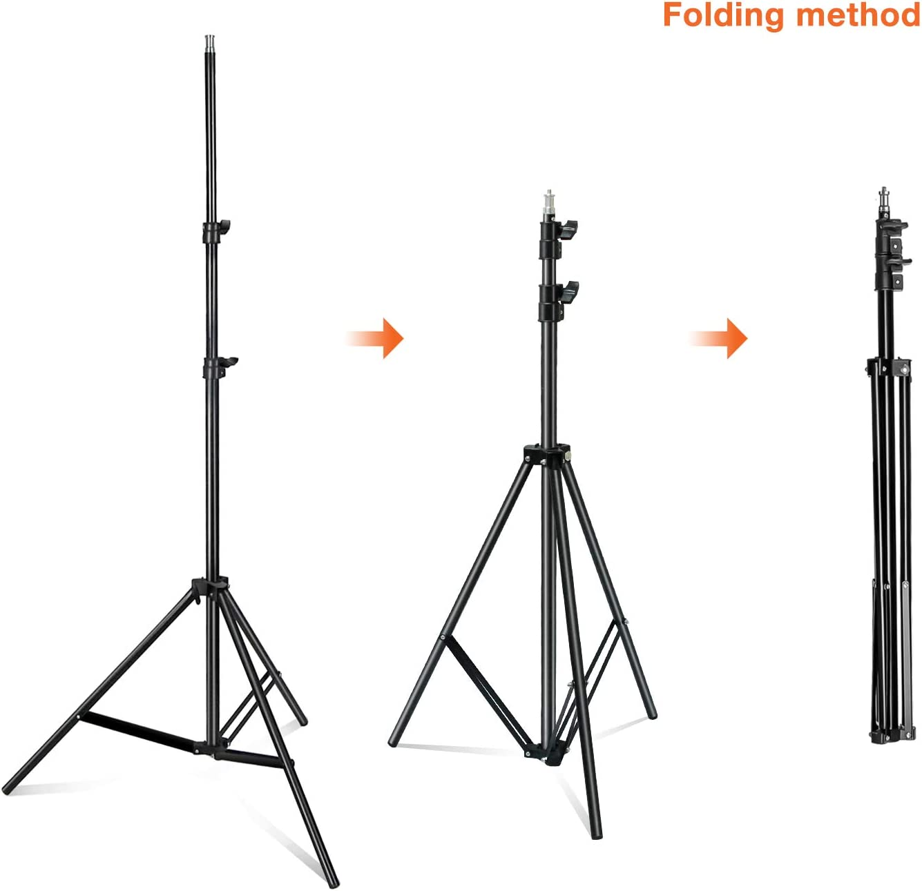 Limo Studio 2 Pack Photo Video Studio 86.5inch Light Stand Aluminum 3Legs Tight Locking System Light Stand for Photography Studio AGG2900