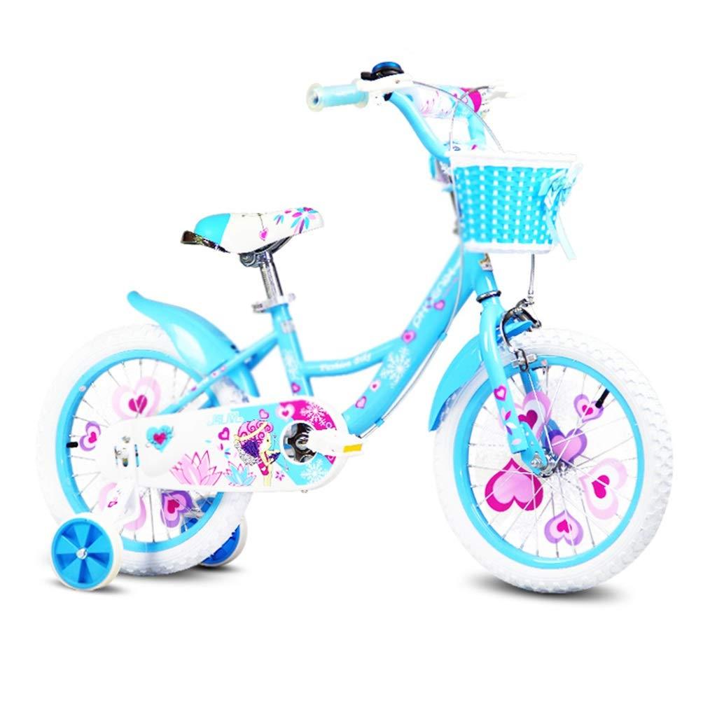 子ども用自転車 学生自転車シングルスピード自転車学生自転車少女自転車自転車、高炭素鋼フレーム (Color : Blue, Size : 14inches) 14inches Blue B07R9ZZCMX