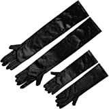 Long Gloves Black Satin, Breakfast At Tiffany Costume All Occassion Formal Accessories