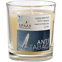 Spaas - Velas antitabaco (12 Unidades, Cristal Transparente