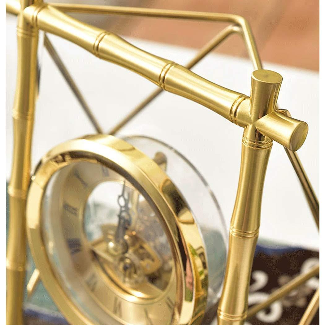 HONGNA Table Gear Rotating Clock Clock Seat Living Room Bedroom Clock Decoration Creative Retro Table Clock Titanium Body (Size : 17227.5cm) by HONGNA (Image #8)