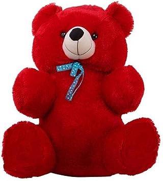 EMUTZ Very Soft Lovable/Huggable Teddy Bear for Girlfriend/Birthday Gift/Boy/Girl (red, 2 feet)