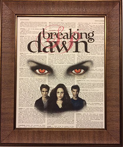 Breaking Dawn Twilight Saga Movie Encyclopedia Book Page Artwork Print Picture Poster Home Office Bedroom Nursery Kitchen Wall Decor - -unframed