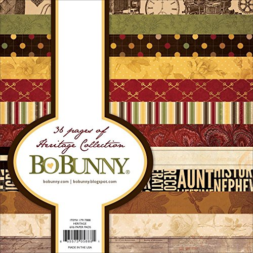 Bo Bunny Heritage Paper Pad (36 Pack), 6 x - Bo Bunny Scrapbook