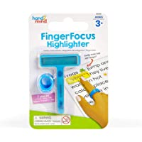 hand2mind-91244 Finger Focus Highlighter, Colorful Dyslexia Reading Strips, ADHD Tools for Kids, Dyslexia Tools for Kids…