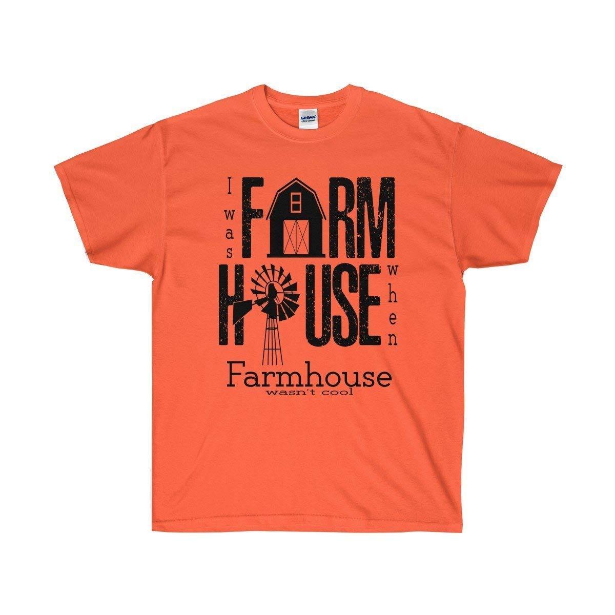 TXRepublic Farmhouse Unisex Ultra Cotton Tee Orange