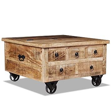 De X Basse Festnight Salon Industriel Table Bois Avec 40 En Tiroir 70 Cm Style 0k8OPnwX