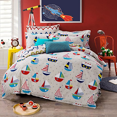 MAXYOYO 2016 New! Small Sailboat in the Sea Duvet Cover S...