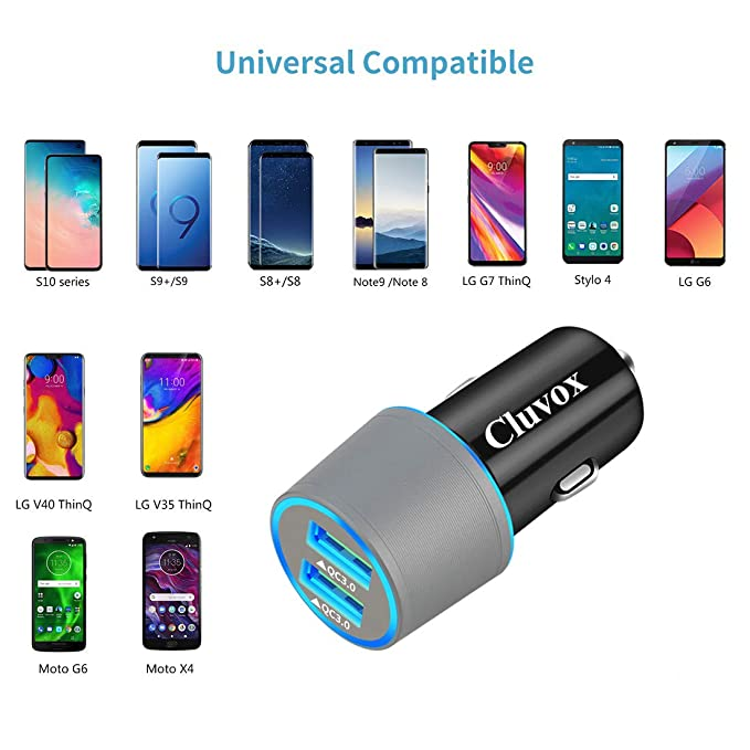 Rapid USB C Car Charger, Compatible for Samsung Galaxy S10/S10+/S10e/Note 10/Note 10 Plus/Note 9/Note 8/S9/S9 Plus/S8 Plus/A50/A70, Quick Charge 3.0 ...