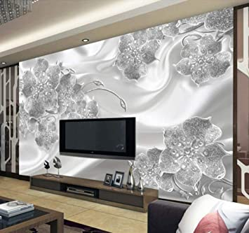 Wanghan 3d Wallpaper Custom Wallpaper Living Room Bedroom Mural Modern Simple Jewelry Flower Silk Mural Tv Background Wall 250cmx175cm Amazon Com