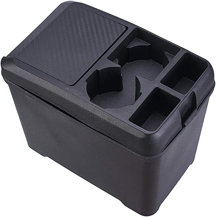 Aumo-mate Car Trash Can Organizer Interior Accessories Multi-Function Storage Box Beverage Cup Holder Storage Box Cans Holder for Automotive Cars SUV Truck Mini-Van