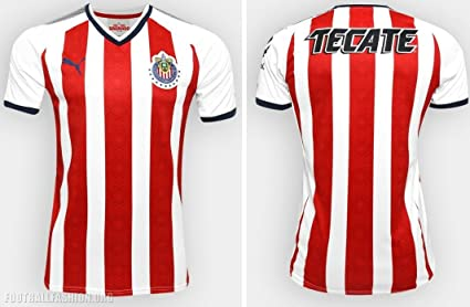 cb24c24d17c Image Unavailable. Image not available for. Color: New! Liga MX Club  Deportivo Guadalajara Home Puma Jersey ...