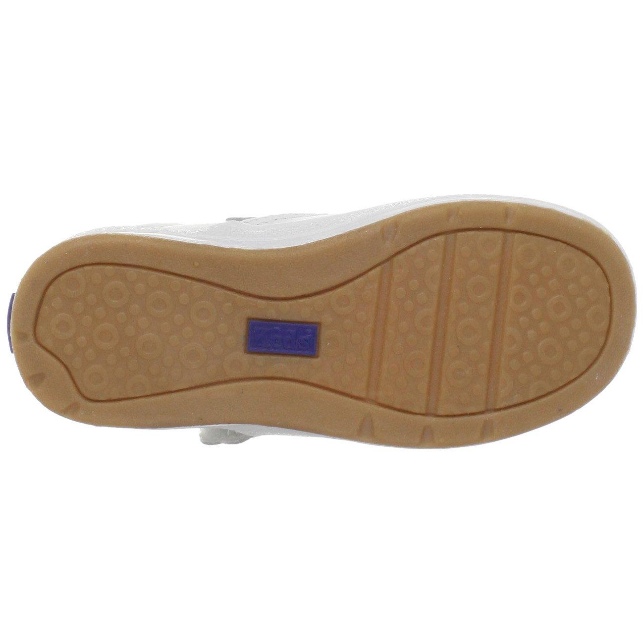Keds Daphne T-Strap Sneaker (Toddler/Little Kid), White, 12 M US Little Kid by Keds (Image #3)