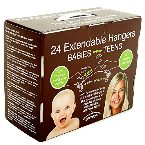 grohanger Extendable Kids Clothes Hangers (24) ()
