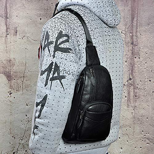 Pour Hommes Sac Bandoulière Sports Cuir noir D'épaule Air Multifonction À Mode Plein Kinttnyfgi En Dos De H0fAx0