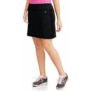 6b10d50f4c4 Danskin Now Women s Plus-Size Performance Drawstring Skort w Ruched Siding  Activewear
