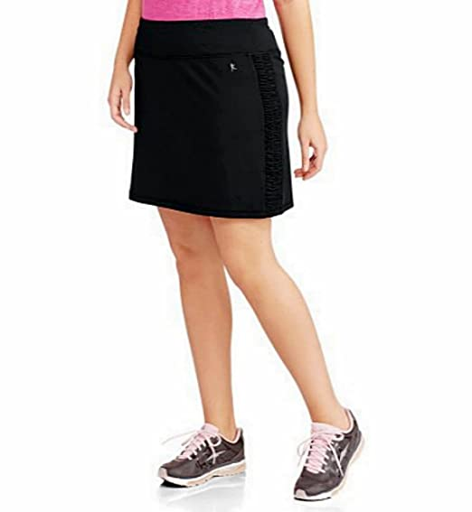 aa6cd7819498b3 Danskin Now Women s Plus-Size Performance Drawstring Skort w Ruched Siding  Activewear at Amazon Women s Clothing store