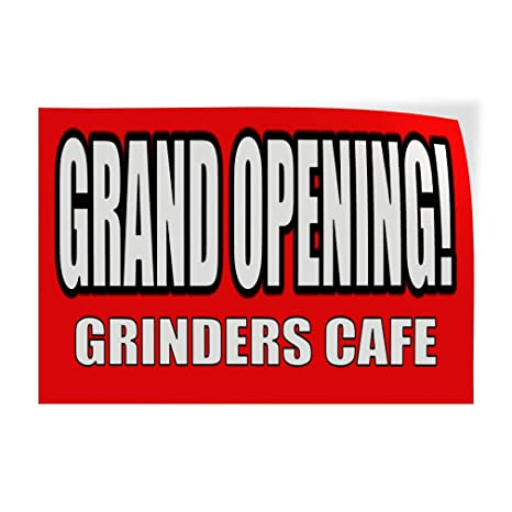 Amazon.com: Pegatina de apertura grande. Grinders Café ...