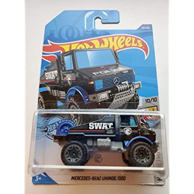 Hot Wheels 2020 Treasure Hunt Hw Metro Mercedes-Benz Unimog 1300, 33/250 Black: Toys & Games