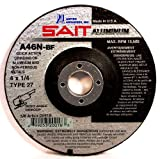 United Abrasives-SAIT 20018 Type 27 4-Inch x 1/4-Inch x 5/8-Inch A46N Aluminum Depressed Center Grinding Wheels, 25-Pack