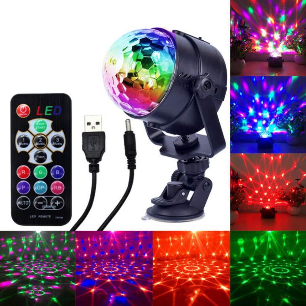 Laogg Discokugel Party Lampe das LED-RGB-Kristallkugel-Birnen-Licht-Partei beleuchtet Auto-Disco DJ-Stadium