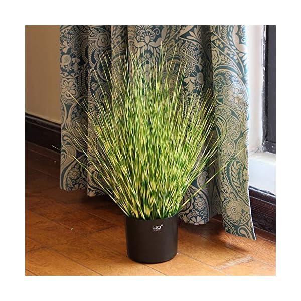 Hockus Decorations Simulation Green Plant Bonsai Landing Reed Foxtail Plantas Artificiales para Decoracion – (Color: 60cm Zebra Grass)