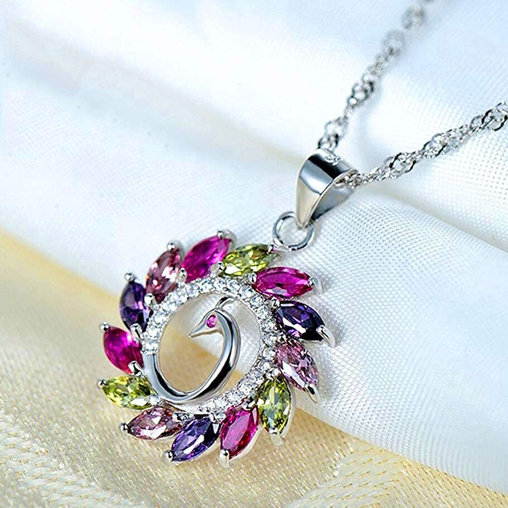 Rainbow Unicorn Pendant Necklace//Bracelet for Women Girl 18K Gold Plated Zircon Fashion Jewelry Gift Color Red//White//Rainbow//Purple Godyce GOKZCN029-All