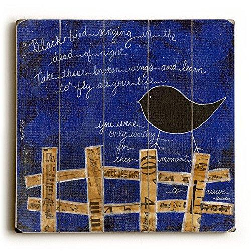 Black Bird by Artist Krista Brock - rustic wall art decor