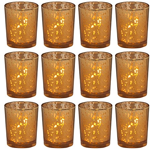 Gold Rustic Glass Votive Candle Holders