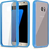 REALIKE™ Premium Ultra Thin Crystal Clear Transparent Case for Samsung Galaxy S7, Diamond Series, Blue