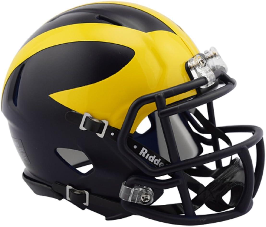 Michigan Wolverines 2016 Low Gloss NCAA Riddell Revolution Speed Mini Football Helmet