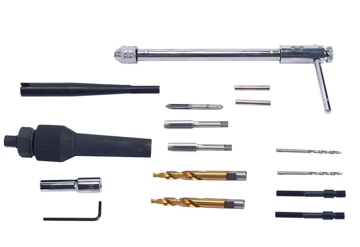 FreeTec 16 PC Glow Plug Removal Remover Tool Set Kit Damaged 8mm 10mm w//Case