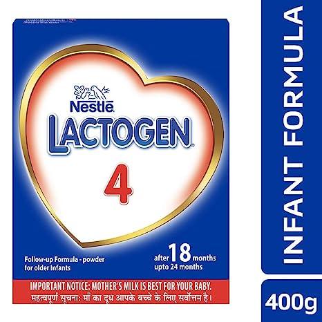 Nestle Lactogen 4 Follow-Up Infant Formula Powder, After 18 months upto 24 months, 400g Pack