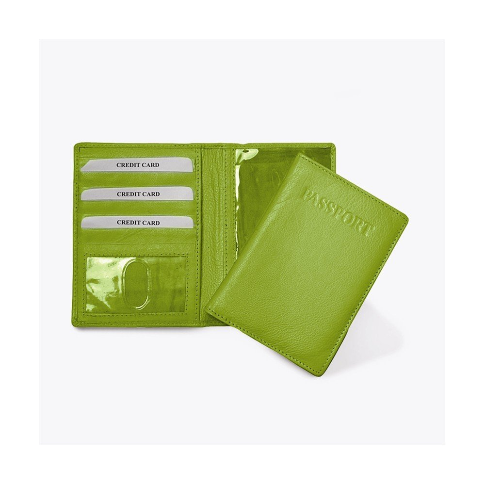 Jewelry Adviser Gifts Lime Leather Passport Cover