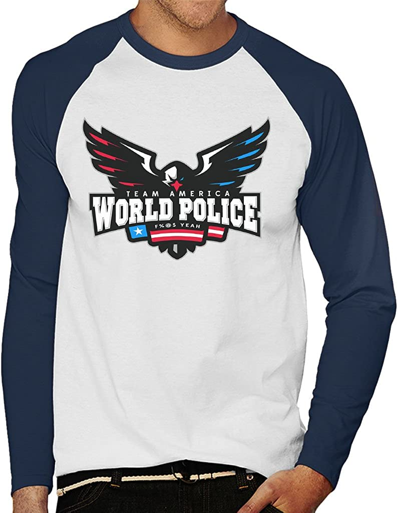 Team America World Police Eagle Logo Mens Baseball Long Sleeved T ...