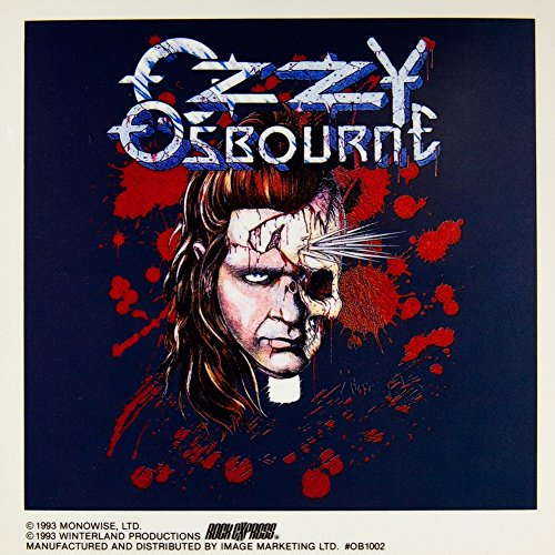 Old Glory Ozzy Osbourne - Spike Face - Cling On Decal