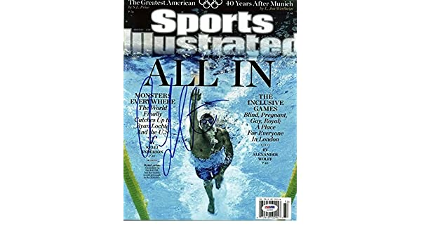 Ryan Lochte Olympics Swimming Signed 11X14 Photo #U23549 - PSA/DNA Certified - Autographed Olympic Photos at Amazons Sports Collectibles Store