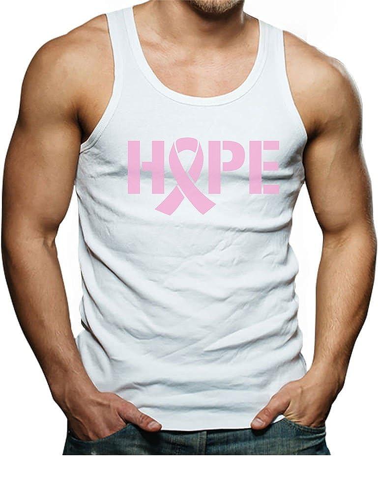Hope Breast Cancer Awareness Pink Ribbon Singlet TeeStars