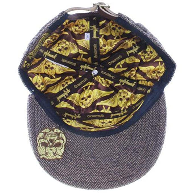 2aa4a97d5f02c Grassroots California Jeremy Fish 6 Panel Metal Strapback at Amazon Men s  Clothing store